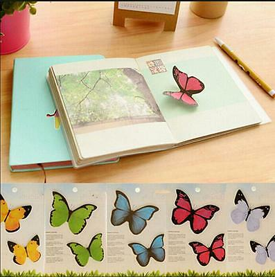 1X Butterfly Sticker Bookmark Marker Memo Flags Index Tab Sticky Notes