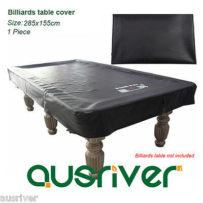 Heavy Duty Synthetic Leather Billards Table Cover Waterproof Dustproof Black