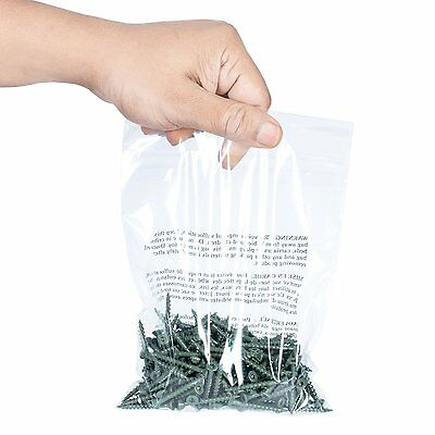 6x9 Poly Bags Plastic Self Sealing with Suffocation Warning Pack 200