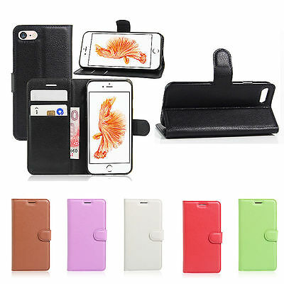 Magnetic Card Slot Flip Cover Leather Wallet Stand Case For iPhone 5S 6S 7 Plus