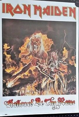 Iron Maiden-Hallowed Be Thy Name Vintage poster1993 FREE INT SHIPPING