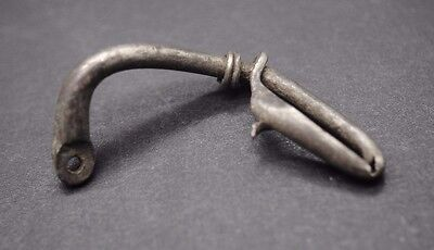 Ancient Roman Silver Fibula Brooch 4Th Century Ad