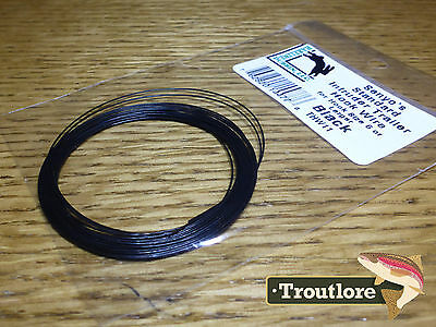 Black Hareline Senyo's Intruder Trailer Hook Wire New Fly Tying Materials