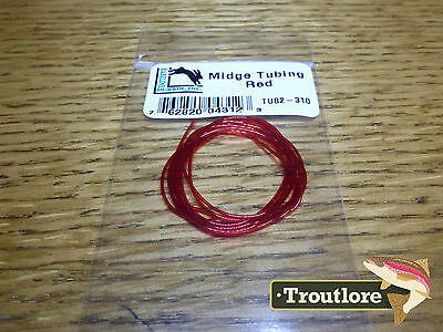 Red Stretch Midge Body Tubing - New Hareline Dubbin Fly Tying Materials