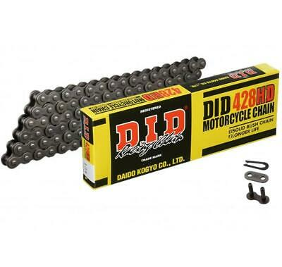 DID Motorcycle Chain 428HD 120 links fits Yamaha TW200 89-
