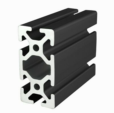 80/20 Inc 40mm x 80mm T-Slot Aluminum 40 Series 40-4080-Black x 2440mm Long N
