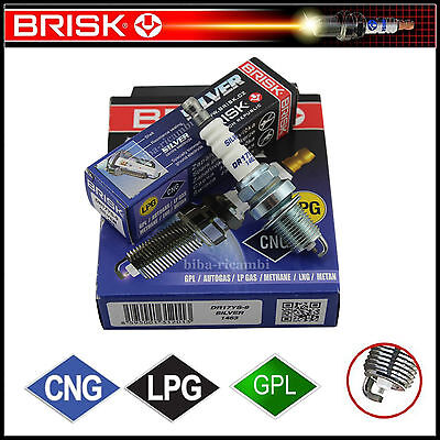 Dr17Ys-9 Kit 4 Candele Accensione Gpl / Metano Fiat Multipla 1.6 74Kw