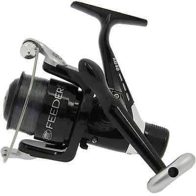 Lineaeffe Feeder 40 Fishing Rear Drag Reel Loaded with 6lb line & Spare Spool