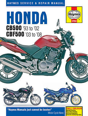 Honda CB500 93-02 CBF500 03-08 Haynes Manual 3753 NEW