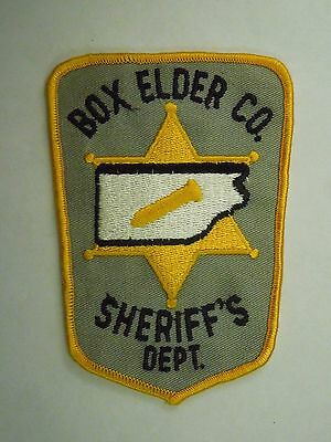 Vintage Box Elder County Utah Sheriff's Dept. Embroidered Sew On Patch