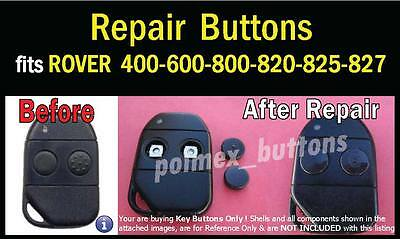 fits Rover 400 600 800 remote key FOB - 2 Repair key BUTTONS