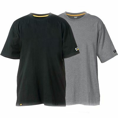 New Caterpillar CAT Men's Work T Shirt Twin Pack Basic Tee Value Pack Cheap