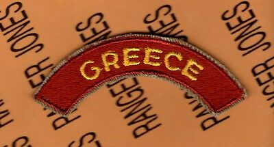 US Army Transportation GREECE cotton tab patch