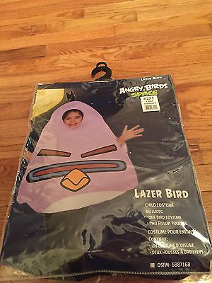 Lazer Bird Child Standard Costume One Size NEW Angry Birds Space Purple  #251