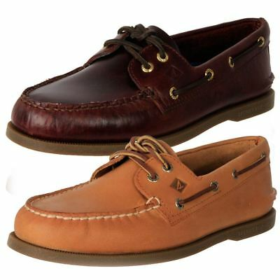 Genuine Sperry Men's Leather Anti-Slip Casual Comfort Boat Shoes A/O 2 Eye Cheap