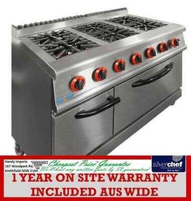 FED GASMAX Natural Gas 6 Burner Top On Oven stove commercial kitchen JZH-RP-6(R)