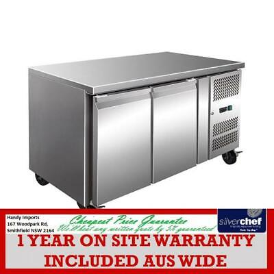Fed Commercial Tropicalised 2 Door Gastronorm Bench Freezer Stainless Gn2100Bt