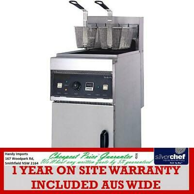 Fed Commercial Electric Fryer Chips Fries Fish Cold Zone Floor Model Ef-28L