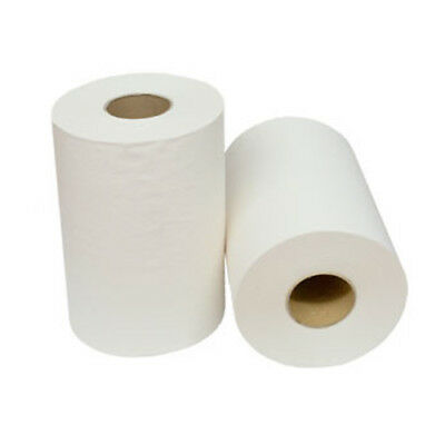 WHITE HAND ROLL TOWEL PAPER 1PLY 80M BULK INDUSTRIAL ROLL / Kitchen Roll 16R/Ctn