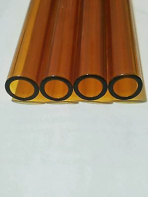 8 inch 5 Piece Pyrex Glass Blowing 10 mm OD 8 mm ID Tubing 1 mm Thick Wall Amber