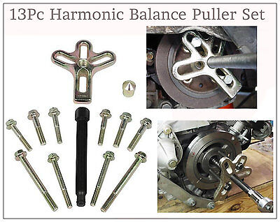 13pc Heavy Duty Harmonic Balance Puller Crank Shaft Tool Steering Wheel Pulley