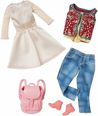 Barbie Doll Clothes 2 Pack Complete Look Fashions - White Dress & Jeans - DMF57