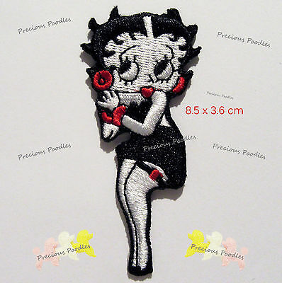 "NEW~ Betty Boop Patch, ""Simply Irresistable"",  Iron or Sew On Fully Embroidered"