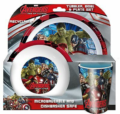Spearmark Marvel Avengers Age of Ultron Tumbler Bowl Plate Tableware Set