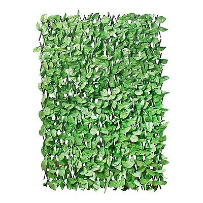 GardenKraft 26130 2 x 1 m Light Ivy Expandable Artificial Willow Fence Panel ...