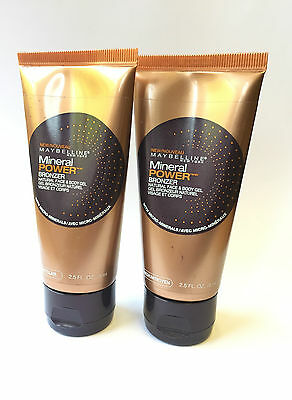 MAYBELLINE MINERAL POWER NATURAL FACE & BODY GEL BRONZER - Choose your shade