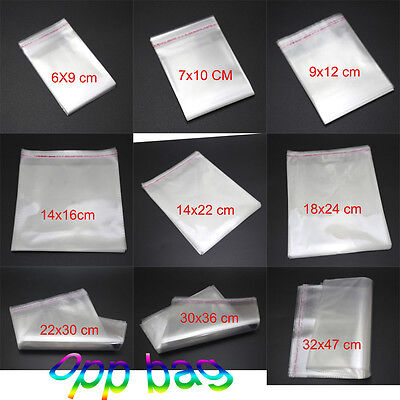 Clear Self Adhesive Resealable Poly Cello Cellophane OPP Bags 9 Specification
