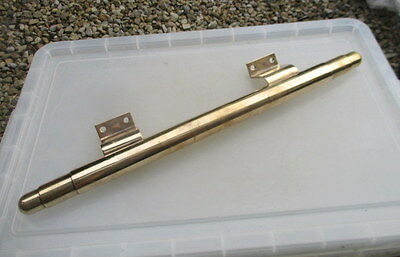 Vintage Bronze Door Bar Handle Shop Pull Architectural Antiques Deco Rail 24""