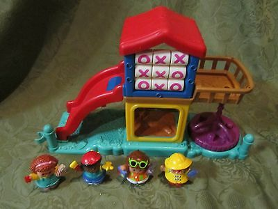 Fisher Price Little People Playground gift set 4 Figures town school village lot