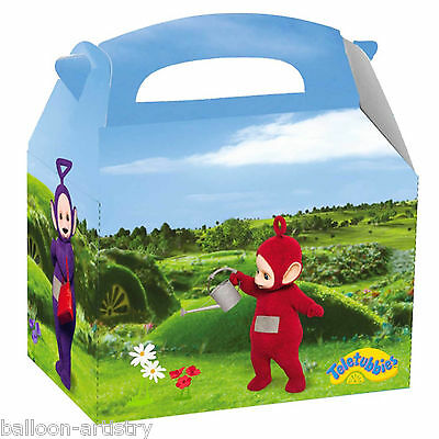 4 Adorable Teletubbies Children's Birthday Card Favour Lunch Party Boxes