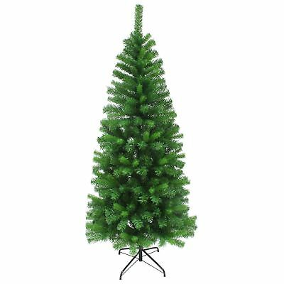 Slim Artificial Pine Christmas Tree Traditional Indoor Decoration 4ft 5ft 6ft