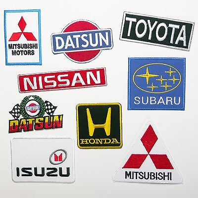 TOP JAPANESE CAR BRAND PATCHES - Any Marque Patch Only £1.40, UK SELLER! NEW!