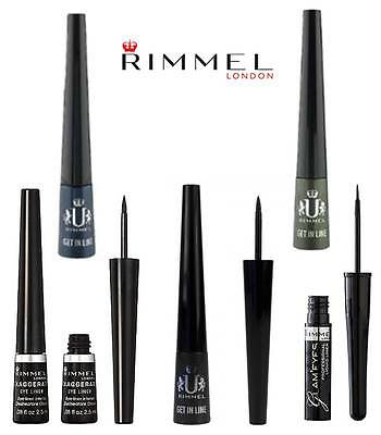 Rimmel Exaggerate/ Glam'eyes/ Get In Line Liquid Eye Liner Brand New **choose**