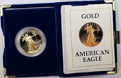 1987 $50 American Eagle 1 Oz Gold Proof Coin In Original US Mint Box with COA