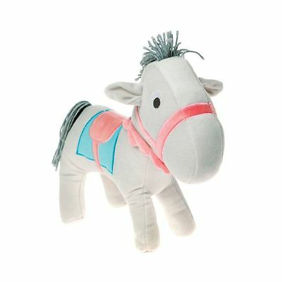 Hollie Horse Shaped Cushion New Childrens White Pink Free P+P