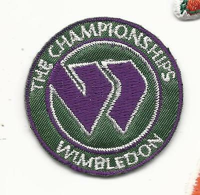"""New Wimbledon The Championships Round 1 1/2"""" Iron on Tennis Patch"""