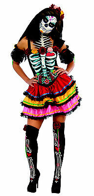 Gr. M Kleid Day of the Dead Seniora Kostüm Halloween la catrina Damen 2810622