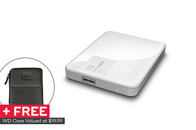 "WD My Passport Ultra Portable 2.5"" 1TB External USB 3.0 HDD - White"