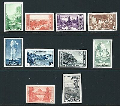 US Stamps: 756-765 Farley Special Printing National Parks Mint, ngai, nh