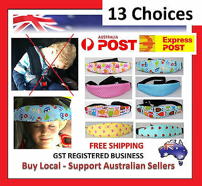 Baby Car Seat Headrest Sleeping Head Rest Support Pad Pillow Kids Support Strap