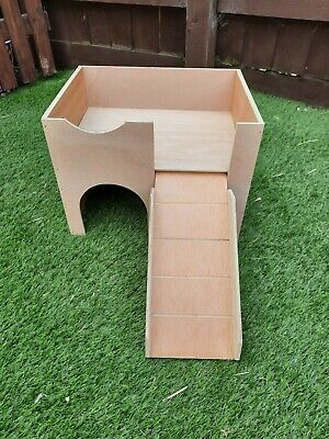 ::::::new Smaller Cage Size Design Two Storey Guinea Pig Castle /shelter::::