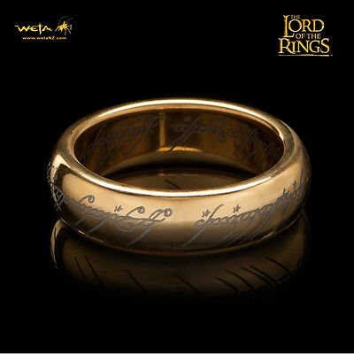 WETA The One Ring Lord Of The Rings Gollum Frodo W/ Runes Replica SZ 6 NEW