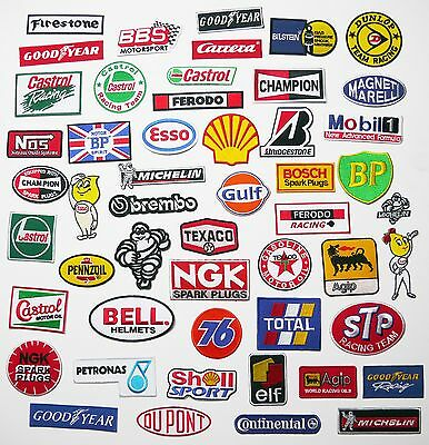 MOTORSPORT SPONSOR JACKET PATCHES - 100 Designs, Any Patch Only £1.40, UK! NEW!