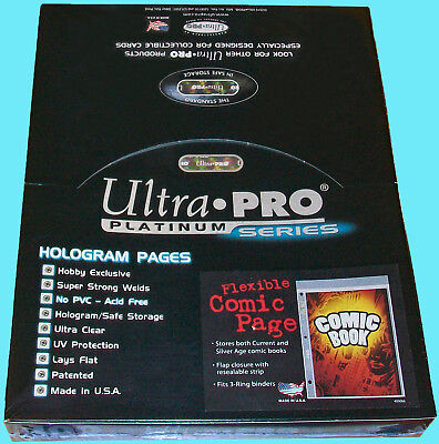 100 Ultra Pro Platinum COMIC BOOK Flexible PAGES Resealable Binder Pocket 3 Hole