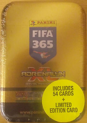 2017 Panini TOP TEAMS FIFA 365 Adrenalyn Soccer Cards TIN. 54 CARDS + LTD EDN!!