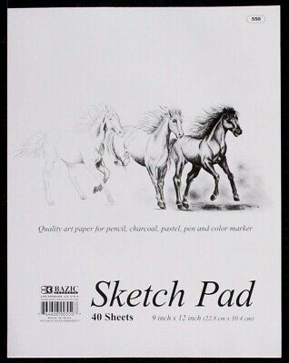 40 Sheets 80gsm A4 Visual Art Diary Pages Sketch Pad 22.8 x 30.4cm Paper Drawing